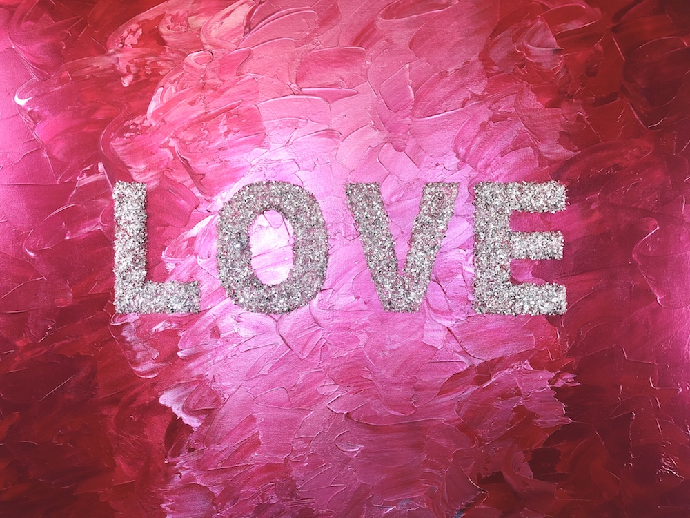 Red and Pink Love Painting by Erin Matlock